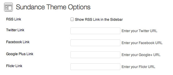 Social theme options built right in